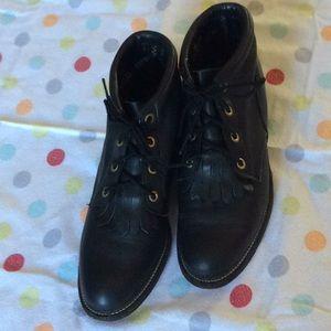 Justin Black Boots 5 1/2 B